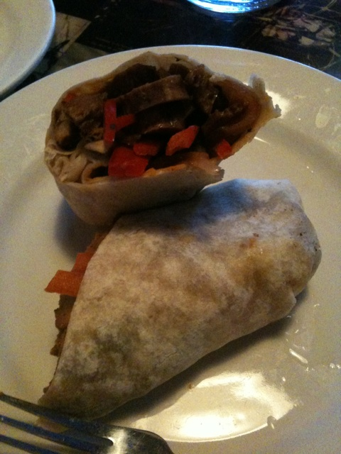Hunter Burgan Vegan Steak and Cheese Wrap