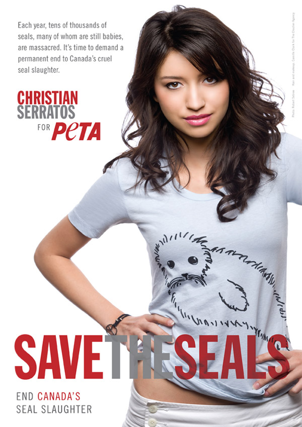 "Christian Serratos ""Save The Seals"" PETA"