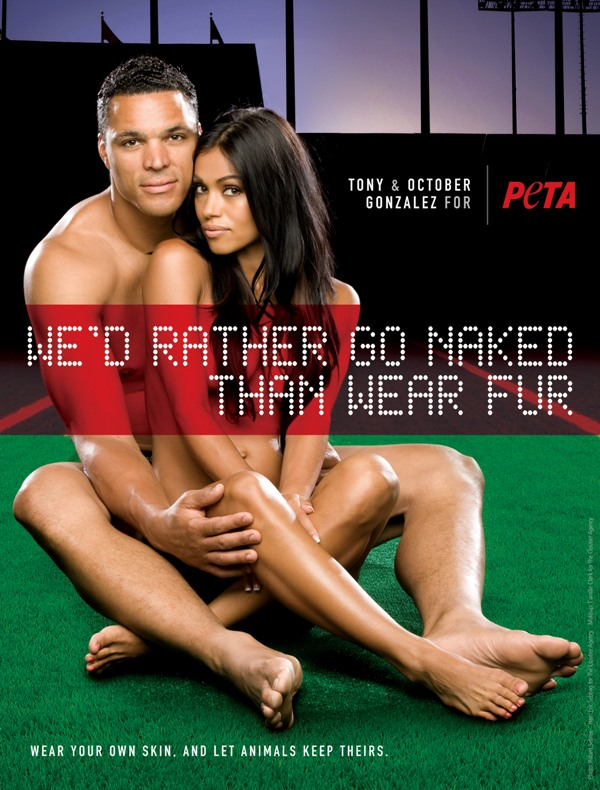 Tony Gonzalez October Gonzalez for PETA