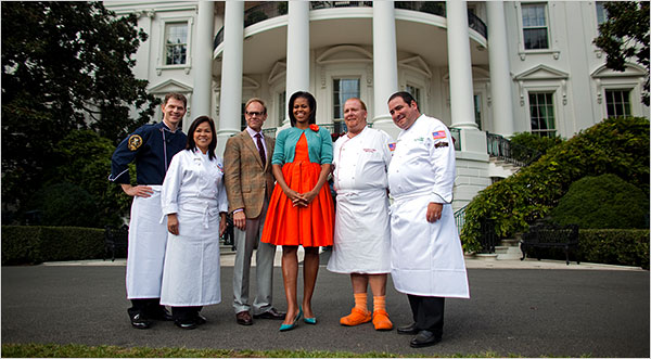 """Iron Chef America"" Michelle Obama Garden"