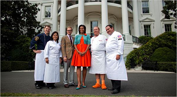 """Iron Chef America"" Michelle Obama Garden"
