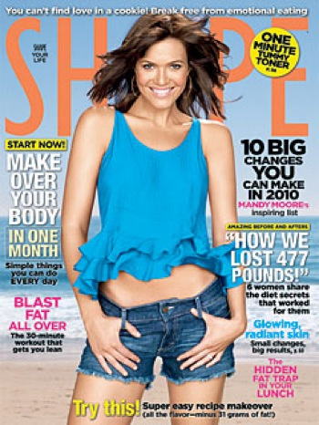 Mandy Moore Shape January 2010