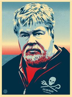 Paul Watson Poster by Shepherd Fairey