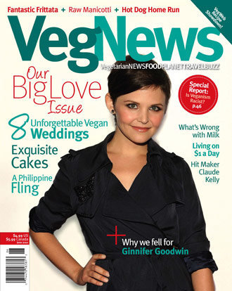 "Vegetarian StarGinnifer Goodwin ""VegNews"" Magazine May ..."