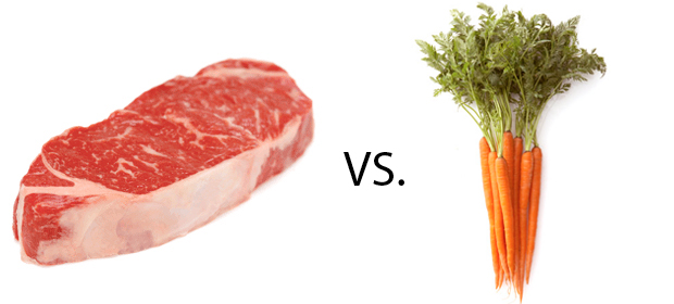 essay about vegetarian vs meat eaters