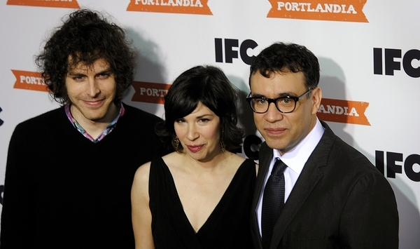 Jonathan Krisel, Carrie Brownstein and Fred Armisen