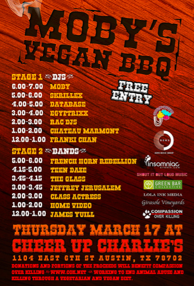 Moby Vegan Barbecue SXSW