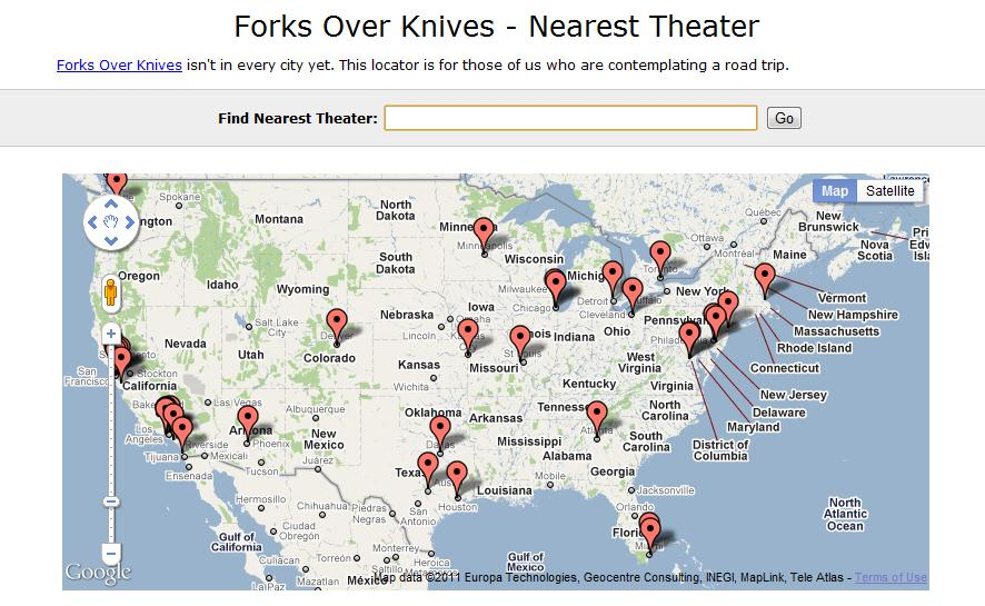 Forks Over Knives Nearest Theater