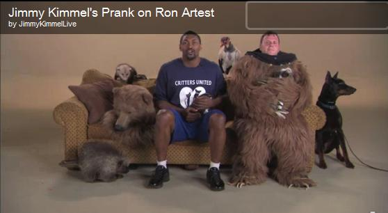 Ron Artest Jimmy Kimmel prank