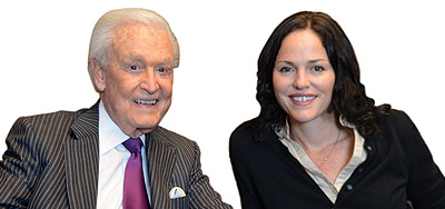 Bob Barker and Jorja Fox