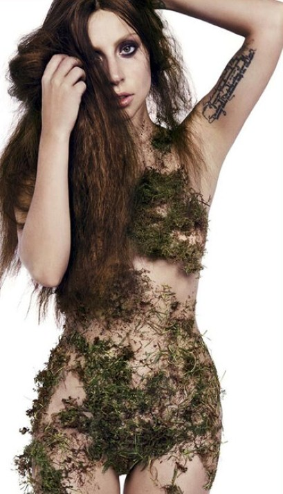 Lady Gaga Moss Dress