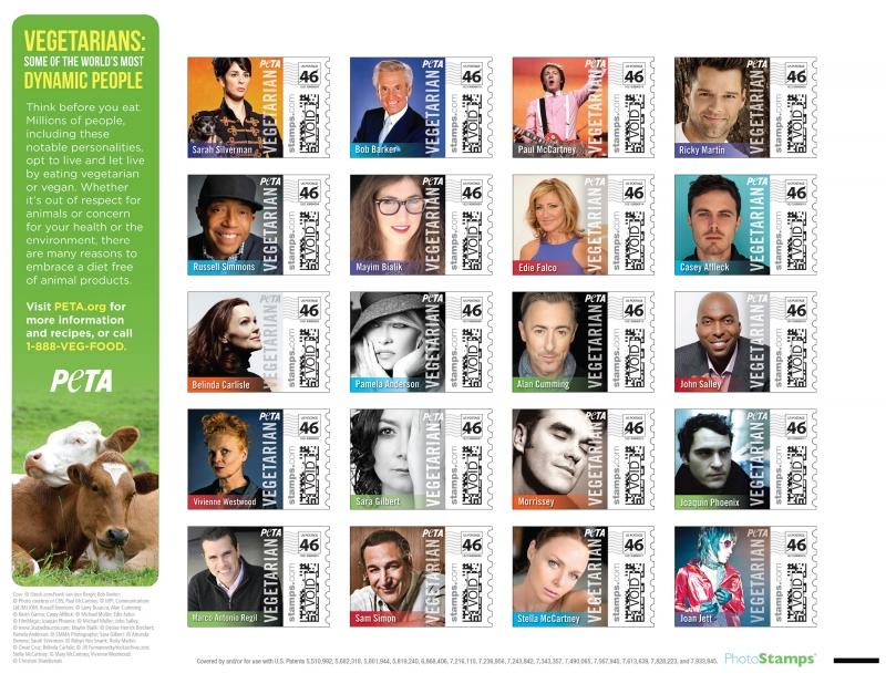 PETA 2013 stamps